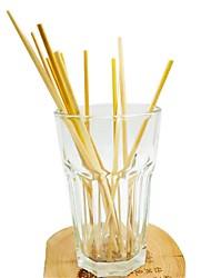 Недорогие -100 шт. Натуральная пшеничная солома 100% биоразлагаемые соломы экологически чистые портативные соломинки для питья