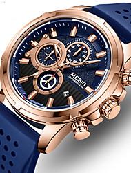 Недорогие -megir мужские многофункциональные часы с большим циферблатом силиконовые спортивные мужские часы 2101
