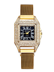 cheap -Women's Quartz Watches New Arrival Elegant Black Blue Gold Stainless Steel Chinese Quartz Black Purple Gold Chronograph Cute New Design 1 pc Analog One Year Battery Life