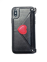 cheap -Case For Apple iPhone XS / iPhone XR / iPhone XS Max Wallet / IMD / Ultra-thin Back Cover Heart PU Leather / TPU
