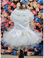 cheap -Dog Dress Dog Clothes Costume Cosplay Wedding XS S M L XL