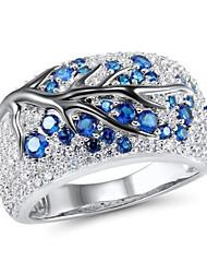 cheap -Women's Ring 1pc Blue Imitation Diamond Alloy irregular Vintage Korean Fashion Daily Jewelry Vintage Style Lucky