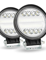 cheap -4inch Round LED Work Light 4WD SUV LED 200W 6000K Flood Spot Beams Offroad Bar Car Headlight Package2PCS