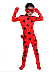 cheap -Assassin Ladybug Magic Harry Gryffin d'or Costume Men's Women's Movie Cosplay Red Lycra