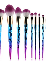 Недорогие -профессиональный Кисти для макияжа 10 шт. Новый дизайн Градиент цвета удобный Пластик за Косметическая кисточка