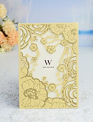 "cheap -Wrap & Pocket Wedding Invitations 30pcs - Invitation Cards / Thank You Cards / Response Cards Artistic Style / Modern Style / Fairytale Theme Pearl Paper 5""×7 ¼"" (12.7*18.4cm)"
