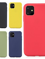 cheap -Case For Apple iPhone 11 / iPhone 11 Pro / iPhone 11 Pro Max Ultra-thin / Frosted Back Cover Solid Colored TPU Soft
