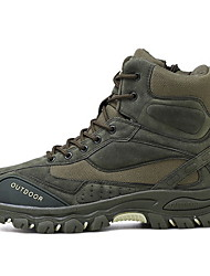 cheap -Men's Suede Shoes Suede Summer Athletic Shoes Hiking Shoes Black / Army Green / Beige