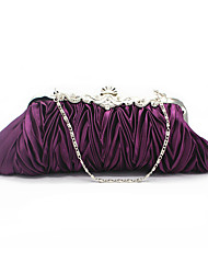 cheap -Women's Chain Silk Evening Bag Solid Color Black / White / Purple