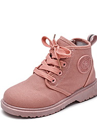 cheap -Girls' Combat Boots Canvas Boots Little Kids(4-7ys) Gray / Yellow / Red Fall / Booties / Ankle Boots