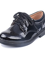 cheap -Boys' / Girls' Flower Girl Shoes Patent Leather Oxfords Little Kids(4-7ys) White / Black Fall