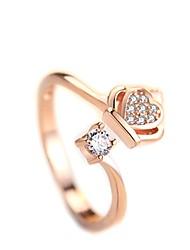 cheap -Women's Ring 1pc Silver Rose Gold Silver Circular Basic Korean Fashion Festival Jewelry Star Crown Cute Cool