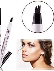 cheap -LULAA Eyebrow Pencil Waterproof with 3pcs Free Stencils Eyebrow Tint Tattoo Pen Easily Draw 24h Lasting Brow Pencil Makeup