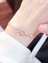 cheap -Women's Clear Vintage Bracelet Earrings / Bracelet Hollow Out Flower Butterfly Simple Korean Fashion Cute Elegant Copper Bracelet Jewelry Gold For Daily