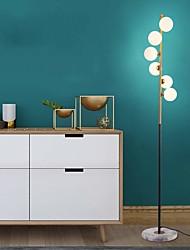cheap -Light Luxury Ambient Floor Lamp Nordic Floor Lamp Bedroom Living Room Creative Ball Post-Modern Study Simple Vertical Lamp Metal