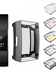 Недорогие -для fitbit заряд 2 браслет тпу ультратонкий полный защитный чехол прозрачная крышка