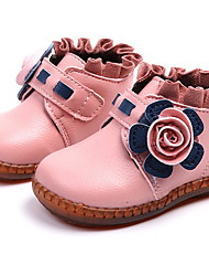 cheap -Girls' Comfort Faux Fur Boots Little Kids(4-7ys) Flower Black / Red / Pink Winter / Booties / Ankle Boots