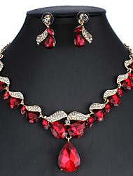 cheap -Women's Black Red White Bridal Jewelry Sets Link / Chain Drop Luxury Dangling Vintage Elegant Earrings Jewelry Black / White / Red For Christmas Wedding Party Engagement Holiday 1 set