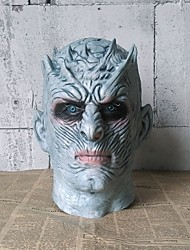 cheap -Mask Halloween Mask Adults' Men's Halloween Carnival Festival / Holiday Emulsion Gray Easy Carnival Costumes Color Block