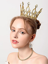 cheap -Crystal / Plated Silver / Alloy Tiaras with Crystal / Crystals 1 Piece Wedding / Special Occasion Headpiece