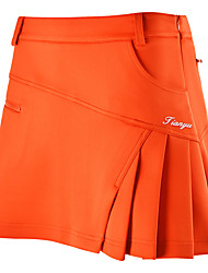 cheap -Women's Tennis Golf Leisure Sports Outdoor Exercise Skirt Breathable Quick Dry Comfortable Sports & Outdoor Outdoor Autumn / Fall Spring Summer Cotton Solid Colored White Red Fuchsia Blue Orange