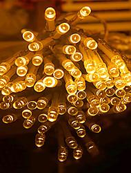 cheap -10m String Lights 80 LEDs LED Christmas Lantern Warm White RGB White Blue Creative Party Batteries Powered 6pcs