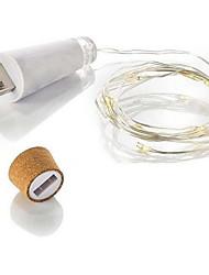 Недорогие -1.5 м 15 светодиодов красивые лампочки для пробок в форме пробки для бутылок звездные струнные светильники натуральный белый фестиваль декор usb powered 1 set