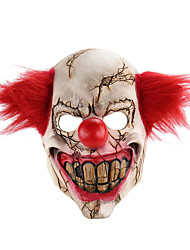 cheap -Horror Holloween Latex Clown Mask Adult with Red Hair Killer Party