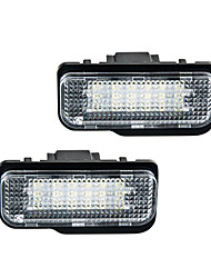 cheap -2pcs/set Car LED License Plate Lights for Benz W203 5D/W211/W219/R171