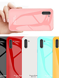 cheap -Shockproof Tempered Glass Phone Case For Samsung Galaxy Note 10 Plus Note 10 Protective Shell Case for Galaxy Note 9 Note 8 Silicone TPU Bumper Edge