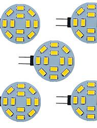 cheap -5pcs 2.5 W LED Bi-pin Lights 340 lm G4 12 LED Beads SMD 5730 9-30 V