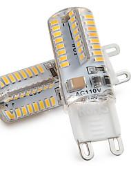 cheap -ZDM 2pcs G9 LED Light Bulbs 3W 30W Halogen Equivalent 250LM 64LEDS Non-dimmable G9 Bulbs for Home Lighting AC220V / AC110V