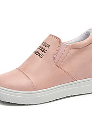 cheap -Women's Sneakers Hidden Heel Round Toe Suede Casual / British Walking Shoes Spring / Fall & Winter Black / Blue / Pink / Slogan