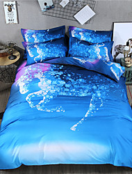 cheap -Duvet Cover Sets Camo / 3D / Animal Polyester / Polyamide Reactive Print 3 PieceBedding Sets