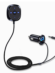 cheap -Handsfree Bluetooth Car Kit MP3 Player 3.5mm AUX Audio 5V/2.1A USB Car Charger A2DP Music Receiver Adapter Support for Siri with Magnetic Base Handsfree Talking and Music Streaming