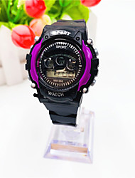 cheap -Kids Digital Watch Digital Sporty Calendar / date / day Chronograph Noctilucent Digital Outdoor - Black Green Purple