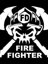 Недорогие -мода весело пожарный занятие машина смешная наклейка