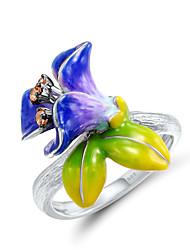 cheap -Ring Vintage Style Rainbow Imitation Diamond Alloy Flower Elegant Vintage Fashion 1pc 7 8 9 / Women's