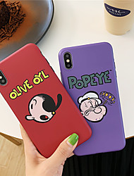 cheap -Case For Apple iPhone XS / iPhone XR / iPhone XS Max IMD / Pattern Back Cover Cartoon TPU