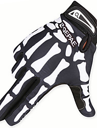 cheap -QEPAE Winter Bike Gloves / Cycling Gloves Thermal / Warm Anti-Shake / Damping Wearable Skidproof Full Finger Gloves Sports Gloves Green / Black Black / White for Adults' Road Cycling Outdoor Exercise