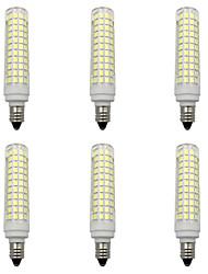 cheap -6pcs 15 W LED Corn Lights 1500 lm E14 E12 E11 T 136 LED Beads SMD 2835 Warm White White 220-240 V 110-120 V