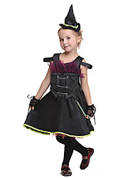 cheap -Princess Sailor / Navy Dress Cosplay Costume Halloween Props Masquerade Kid's Girls' Halloween Halloween Festival Halloween Children's Day Masquerade Festival / Holiday Satin / Tulle Fabric Black