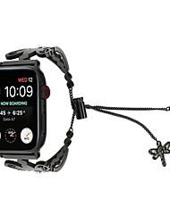 Недорогие -бриллиантовые женские часы ремешок для яблок часы 38 / 40мм 42 / 44мм стрекоза цепь из нержавеющей стали ремешок для часов выдалбливают браслет серии 4 3 2 1