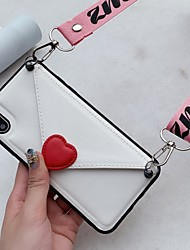 cheap -Case For Huawei Huawei P30 / Huawei P30 Pro / Huawei P30 Lite Wallet / Card Holder Back Cover Heart TPU