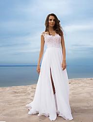 cheap -Women's Sheath Dress - Solid Colored Lace Patchwork White S M L XL