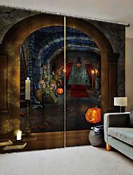 Недорогие -партия хэллоуин тема пугающий фон шторы уф цифровая печать занавес затемнения влагостойкие пользовательские шторы готовы для бара