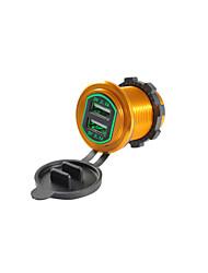 Недорогие -5v 4.2a автомобильное зарядное устройство двойной USB-порты алюминиевого сплава выходное напряжение для грузовика автомобиль мотоцикл внедорожник