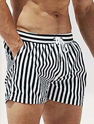 abordables -Homme Shorts de Natation Boxers de natation Shorts de Surf Protection solaire UV Séchage rapide Cordon - Natation Sports aquatiques Rayure Mosaïque Automne Printemps Eté