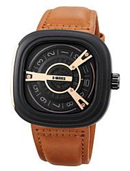 cheap -Men's Sport Watch Japanese Quartz PU Leather Black / Brown / Chocolate No Chronograph Creative New Design Analog Outdoor New Arrival - Black Black / Rose Gold Black / Brown Two Years Battery Life