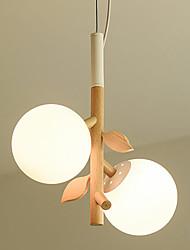 Недорогие -стеклянный шар подвесной светильник 2 лампы люстры скандинавский простой подвесной светильник для столовой кухни остров